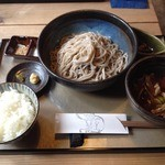 理 - 肉汁定食(1000円+そば1.5倍220円)