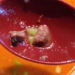 芳園 - 四川坦々麺、肉片発見!