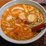 芳園 - ランチの四川坦々麺 半ライス付き ¥800