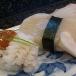 小花寿司 - 鱧、小柱アップ