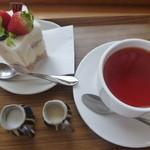 菓子工房pure - 2014,7,3 ミルフィーユ、紅茶