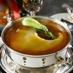 中国料理旬遊紀 - 料理写真:フカヒレ姿煮込み 銀器盛り