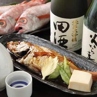 【日本海産魚介】のど黒塩焼き・煮付け1200円より