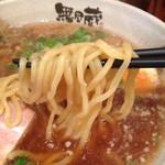 越後秘蔵麺 無尽蔵 - 麺のアップ