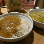 COMPHO - マイルドカレーとグリーンカレーは食べ放題。ご飯は国産