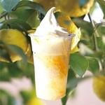 マキバ - ゆずの香りとほろ苦さ。後味すっきり「柚子けずり(ゆずけずり)」! 柚子の皮とはちみつで作った自家製の柚子(ゆず)シロップ。 すっきりとした甘さとほろ苦さのかき氷。柚子の香りがさっぱりとした後味に!! 夏におすすめのかき氷メニューです。