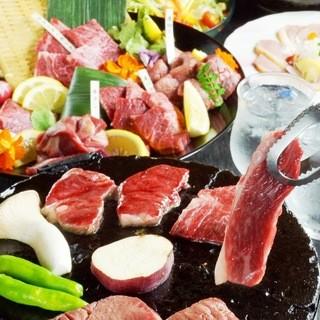 ちっちり自慢の陶板焼き・創作料理・鍋コース♪3500円~!