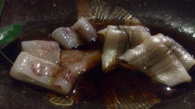 魚々 - つきだしの穴子と烏賊