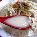 永楽亭 - あっさりした豚骨スープ!