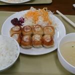 海門 - 2014年7月 ぎょうざ定食