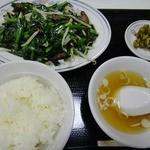 中華料理広東亭 - レバニラ炒め定食