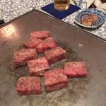 神戸 こも亭 - ディナーコース、来ました来ましたお肉が。