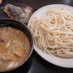 真打 - ごま肉汁(中)+茄子天
