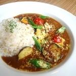 アネア カフェ - たっぷり野菜の特製ひき肉カレー