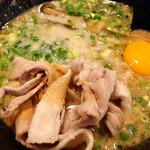 らーめん幸龍 - 7周年限定メニュー 豚玉背油豚骨醤油ラーメン