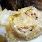 ビストロ小梅 - 若トリのふわふわムースと白菜のロール巻き