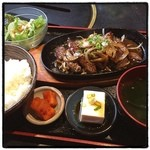 炭火焼肉 寿門 - 焼肉定食(^^)