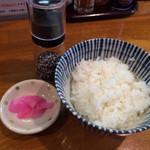 麺処 駒繋 - ライス 100円