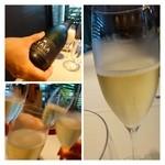 28762080 - 最初にシャンパンで乾杯! お会計から換算すると多分1800円弱だと思います。