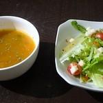 トムアンドジェリー - プラス100円でサラダとスープのセットが付けられます
