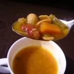 トムアンドジェリー - 豆と野菜とショートパスタも入って美味しかったです