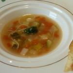 箱根ハイランドホテル ラ・フォーレ - 大葉の香る、スープ・ビストゥー。