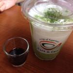 カフェ・ド・クリエ - シェイク抹茶 420円