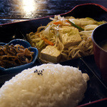 いちまいる - 500円ランチ、豆腐チャンプルー定食