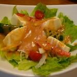 がんこ寿司 - 生ハムのサラダ