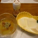 がんこ寿司 - 冬瓜梅冷やし鉢とおぼろ豆腐