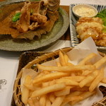 がんこ寿司 - カレイから揚げ・黒酢チキン南蛮・ポテトフライ
