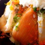 平野鮮魚 - サーモンとイサキ