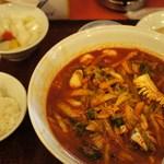 天津飯店 - 辛口・海鮮チャンポン定食 842年(14年7月)