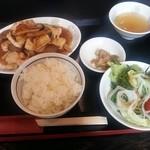 中華料理 瀋陽飯店 - 魚介のXO醤炒め定食1