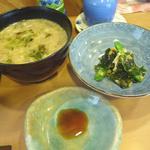 28770139 - 味噌汁と小鉢(にぎりランチ)