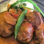 ビストロ デ シュナパン - メインは子羊のカレーソース煮込み
