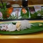 寿司光 - 生タコ&ミル貝刺し