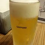 焼小籠包 ファイヤードラゴン - さくらセットの生ビール
