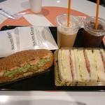 REX  CAFE - モーニングのサンドイッチセット2種