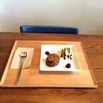 いとカフェ - 新メニューのチョコレートのスコーンです。480円