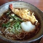 信州蓼科 麺 - 冷やし天おろしそば(600円)