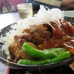 勝央サービスエリア(下り線)レストラン - 武蔵二刀流丼(1,010円)