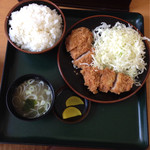 とんかつこころ - 2014.4 ひれかつ定食 ¥840+ご飯大盛り¥60