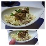 28785640 - 大人のポテトサラダ(400円)・・上には「ボルチーニ茸」がのせられ美味しいですが、量が少ないこと。