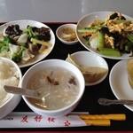 友好楼 - 料理写真:Dセット880円木須肉とイカとブロッコリー炒め