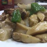 王家中国福建家常菜 - エリンギと豚肉の炒めもの
