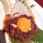 焼肉アリラン - さくらユッケ¥980