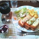 TUTA - ピザトーストセット(アイスコーヒー) ¥850→¥540