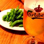 COMATSU - ビールとわさび枝豆