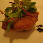トラットリア フィオーレ - 仔羊のミラノ風カツレツ、バルサミコ・ソースで1